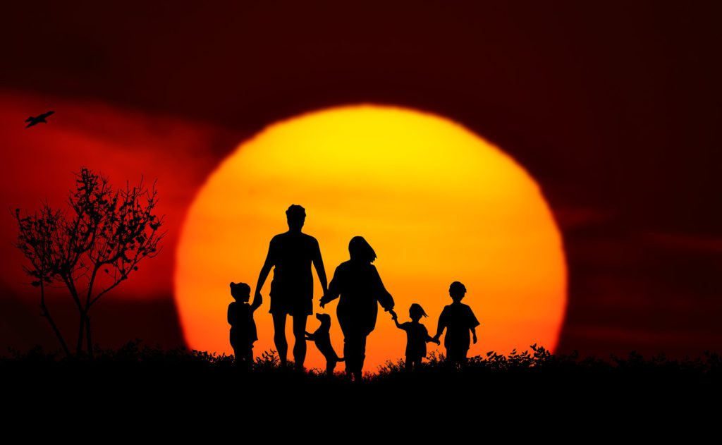 Sunset Family landscape